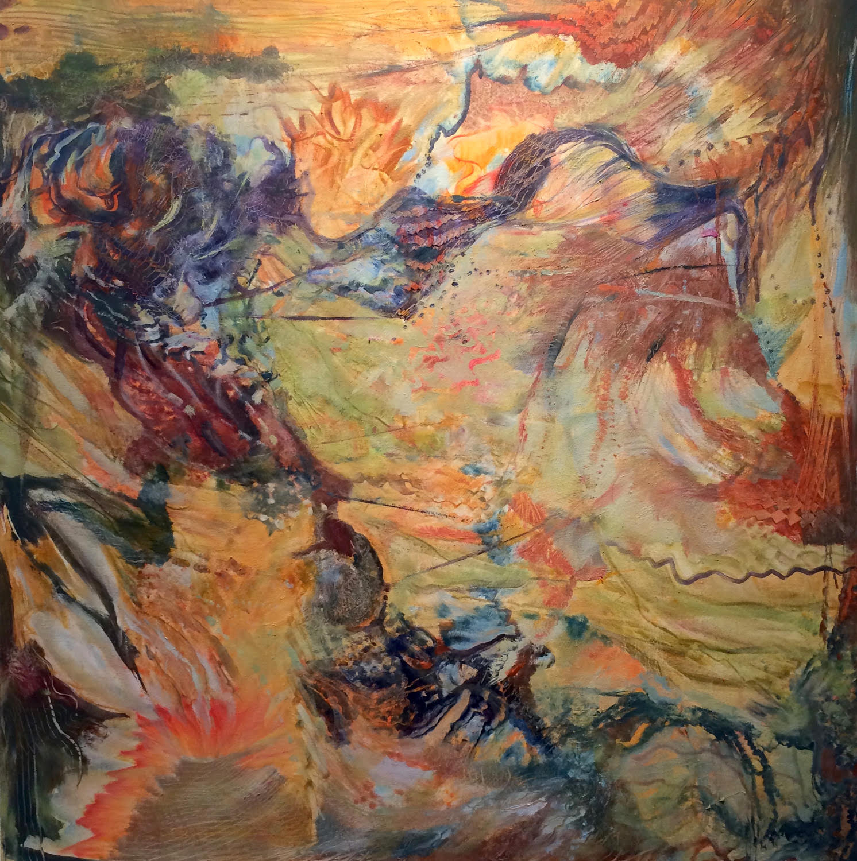 "Journeys   36"" x 36"", Oil on canvas"