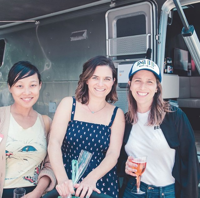 Judy Phu (Cinematographer), Eileen Abarrca (mua), and Bianca Halpern (Founder of BeCine), Photo: BeCine
