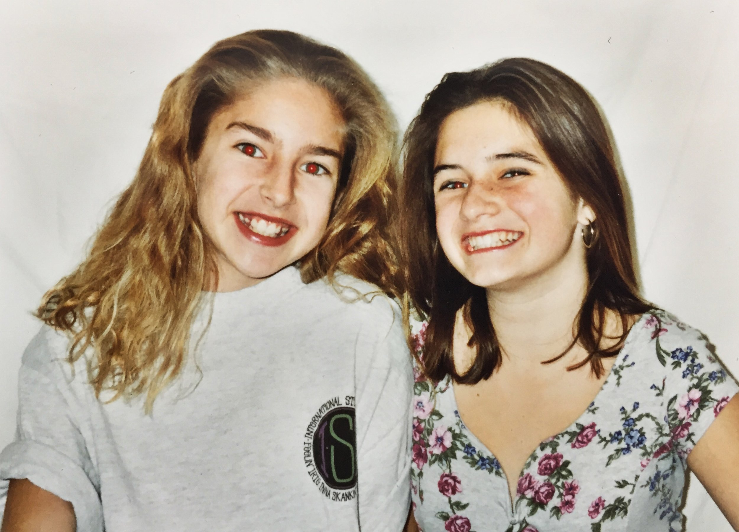 Eileen & Courtney circa 6th grade