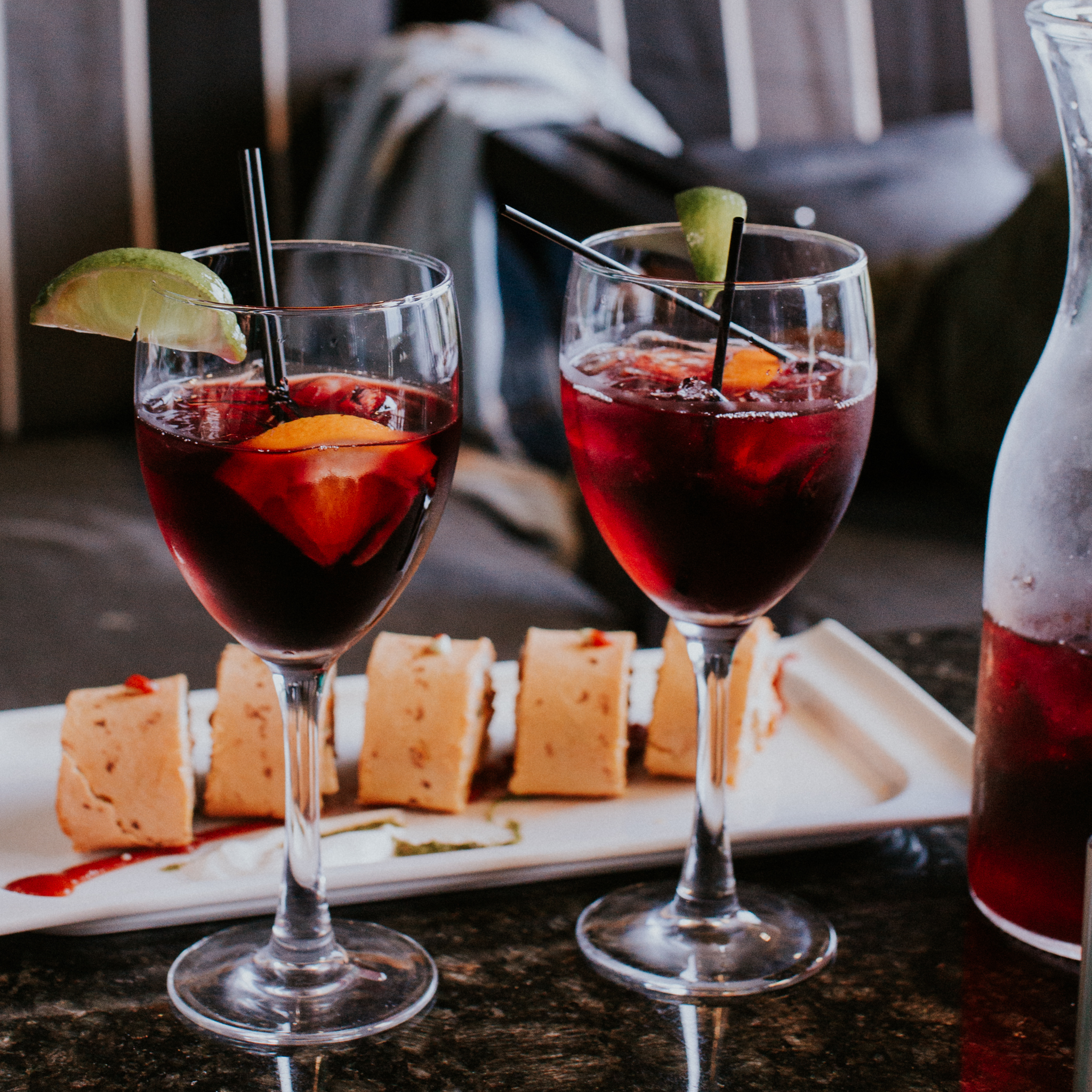 This summer we're really into sangria. Now add some appetizers to that and I'm sold on any summer night. :)