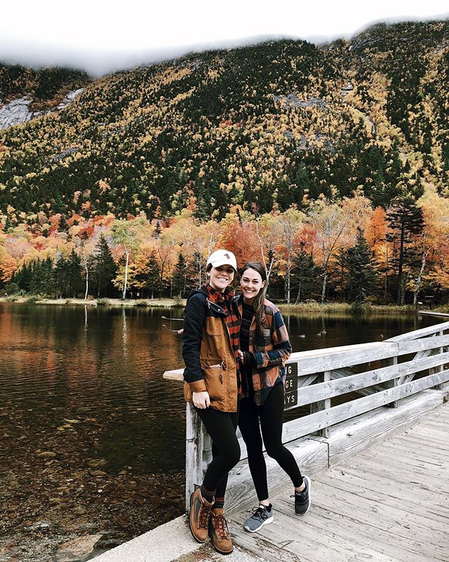 Peak season in the White Mountains with my favorite 🦄 🍁🍂🦌🍺 #unbeleafable