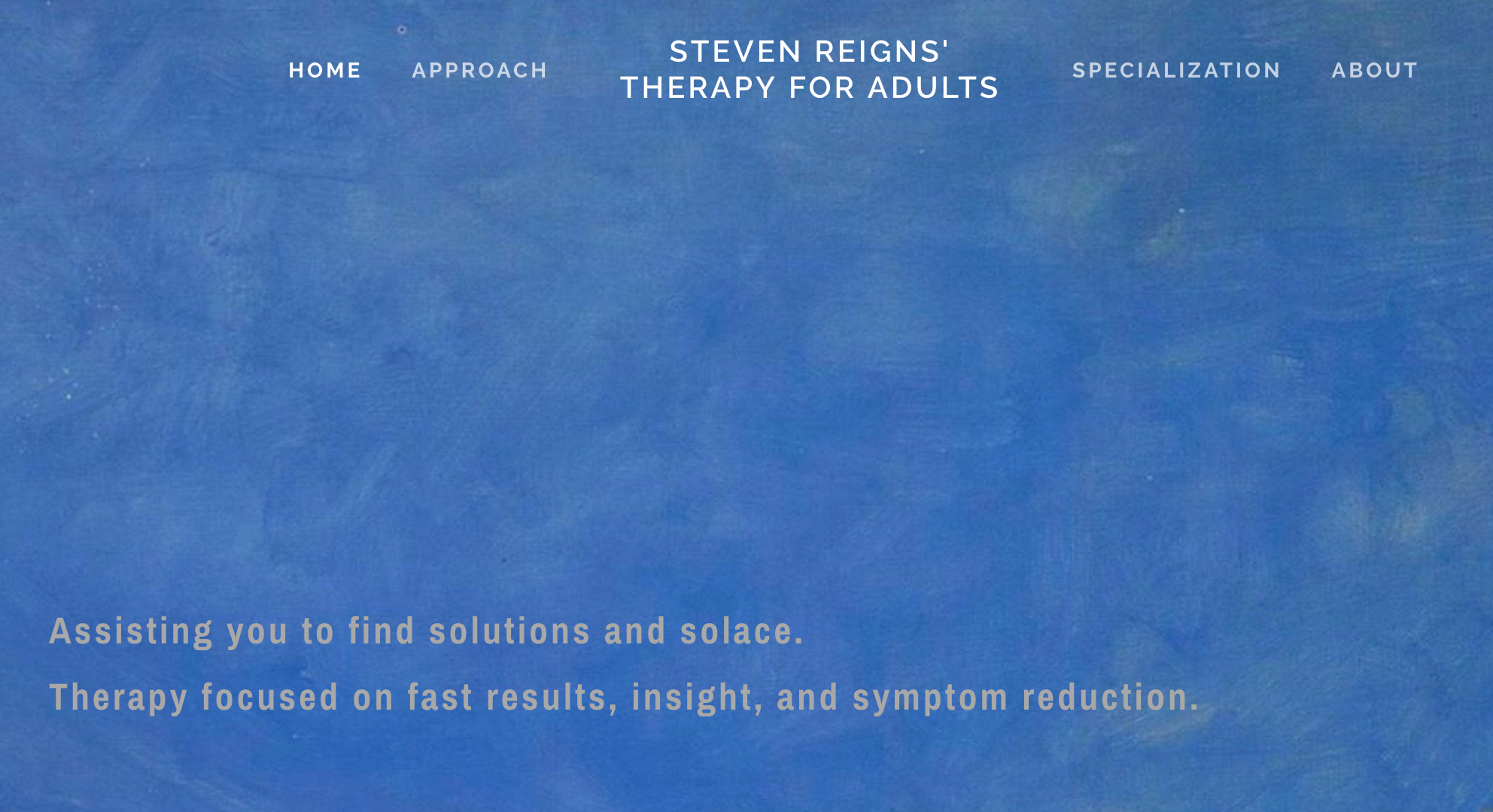Website: Therapy For Adults - Learn about therapy with Steven Reigns
