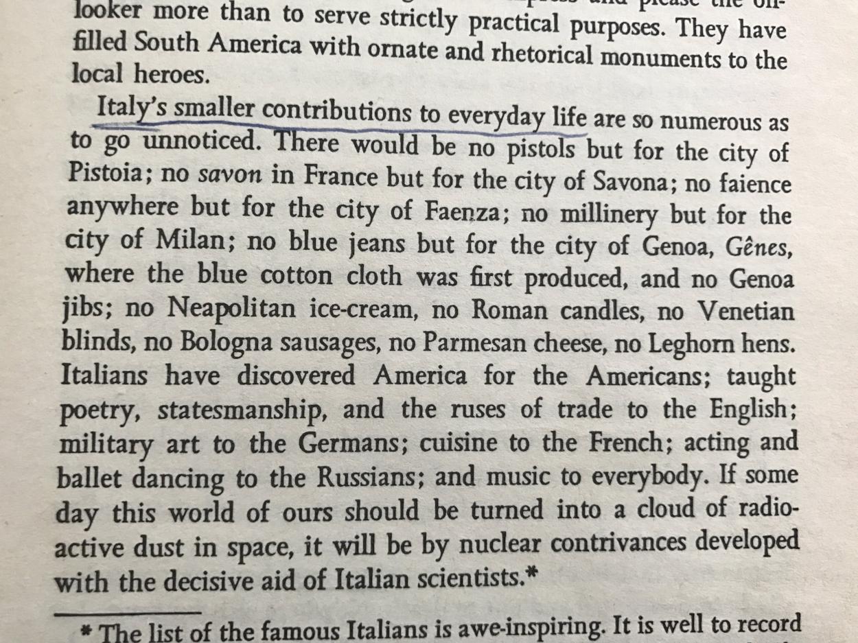 Luigi Barzini, 'The Italians', First published 1964.