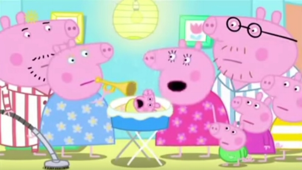 """We are a noisy family"", Peppa pig"