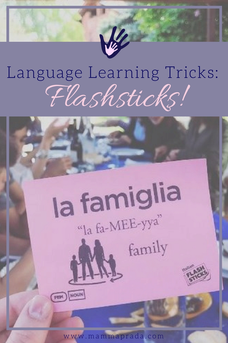 Mammaprada :: Language learning tricks: Flashsticks!