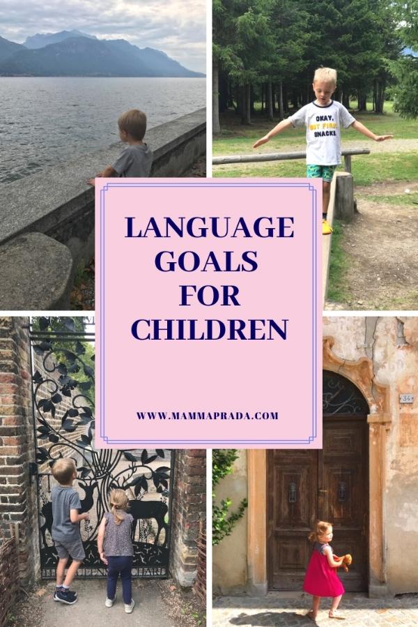 Mammaprada Italian Travel and Bilingual Parenting Blog | Language goals for children