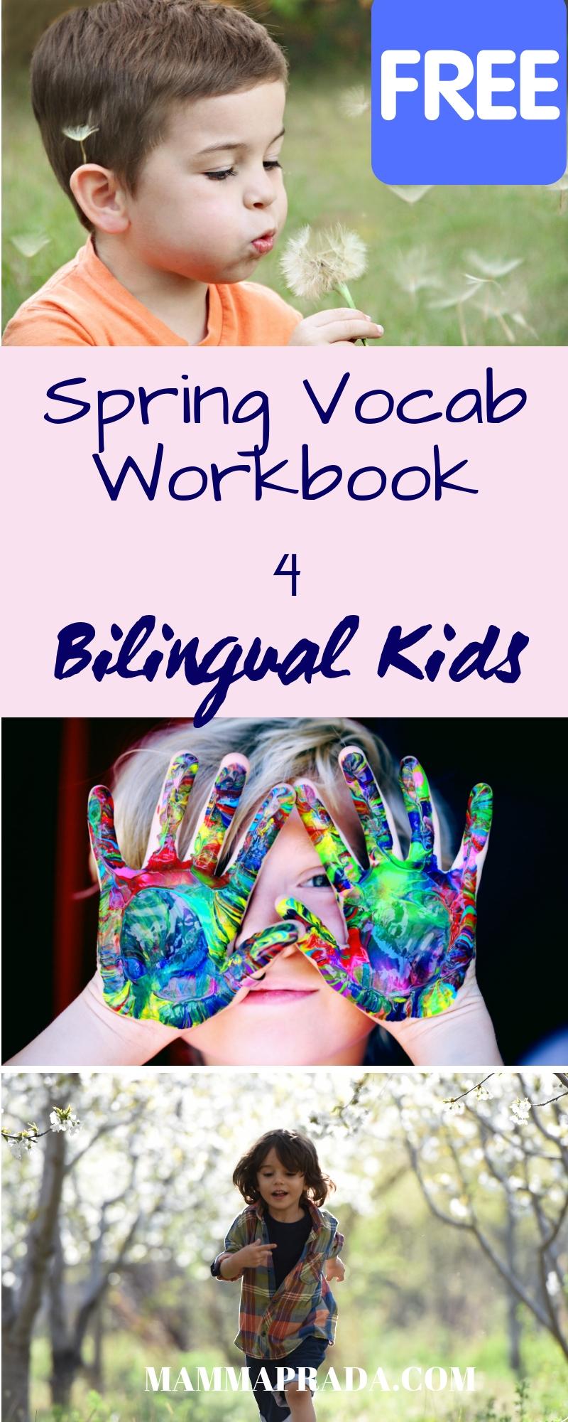 Mammaprada :: Super Easy Spring Language Workbook for Children