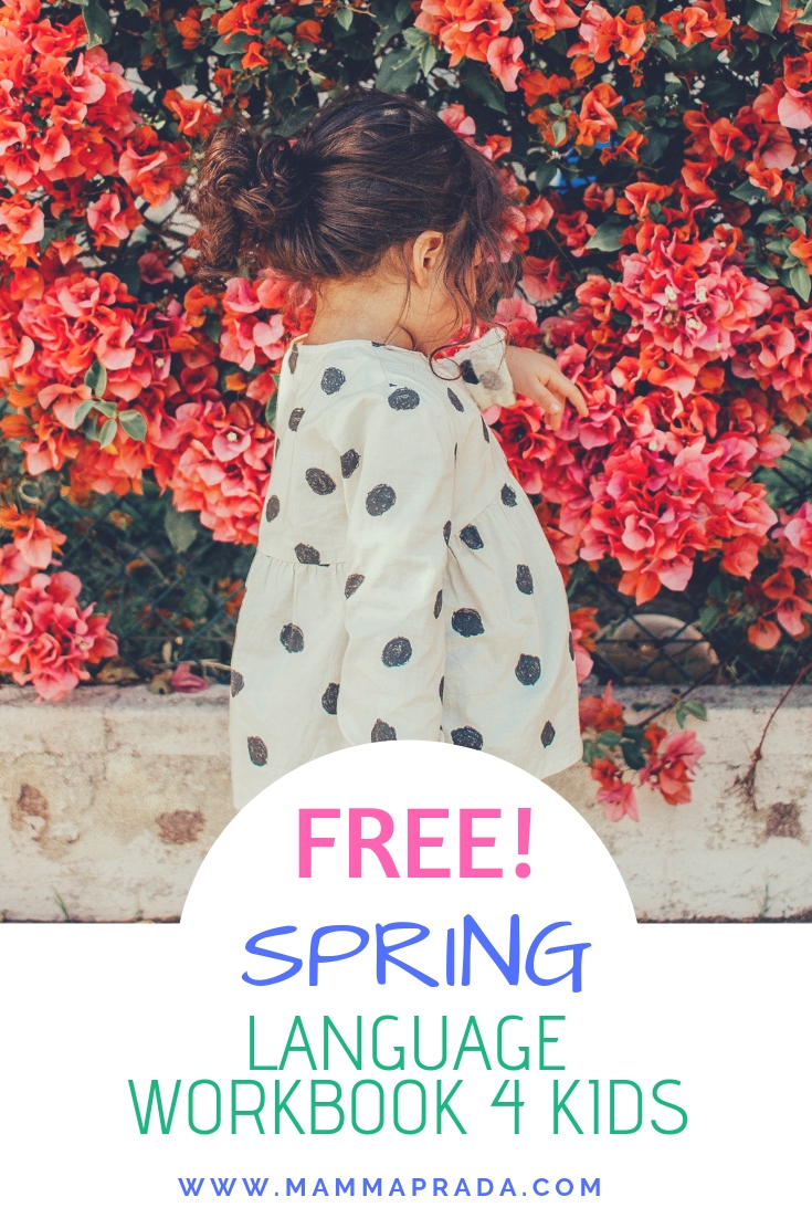 Mammaprada :: Super Easy Spring Language Workbook for Children