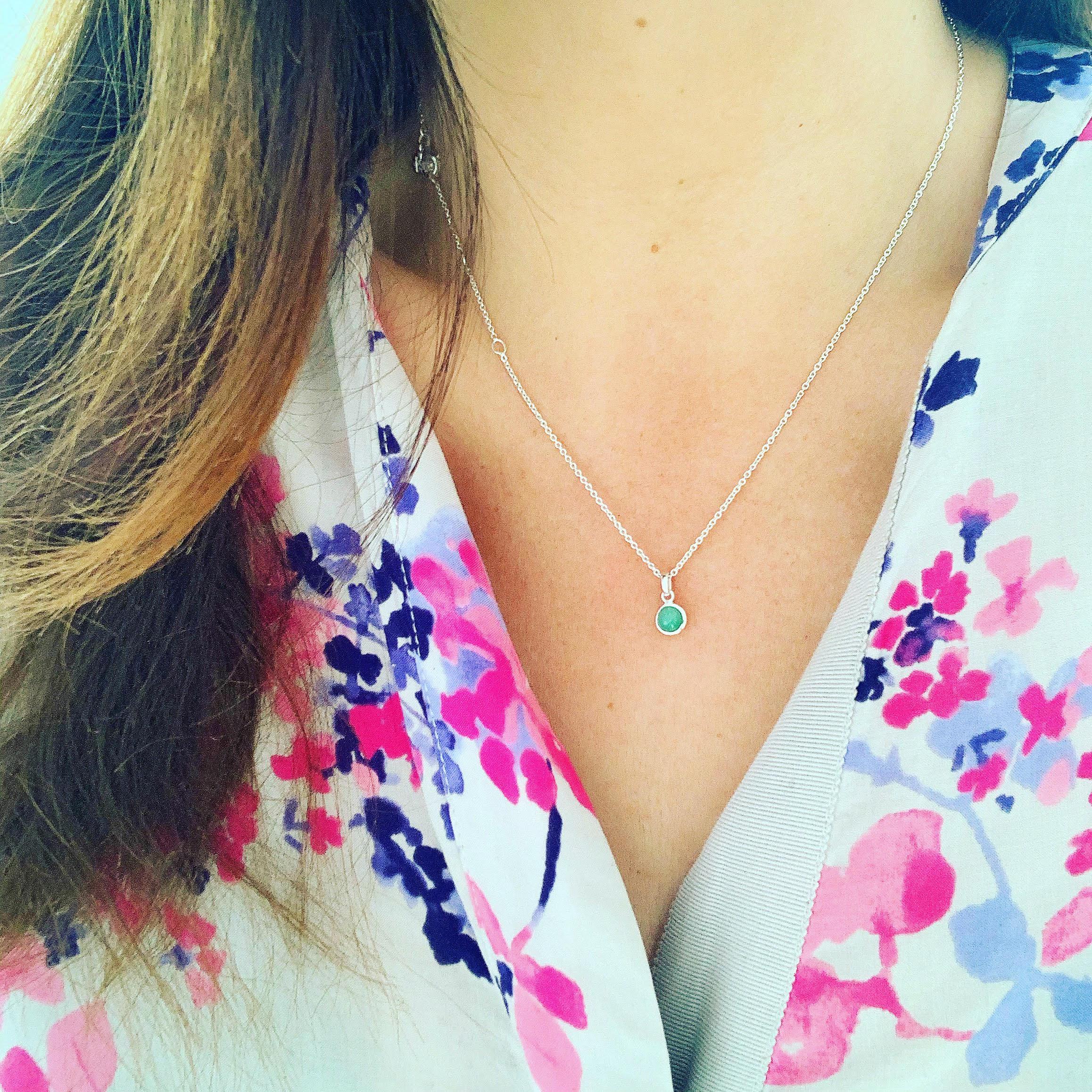 Birthstone necklace.