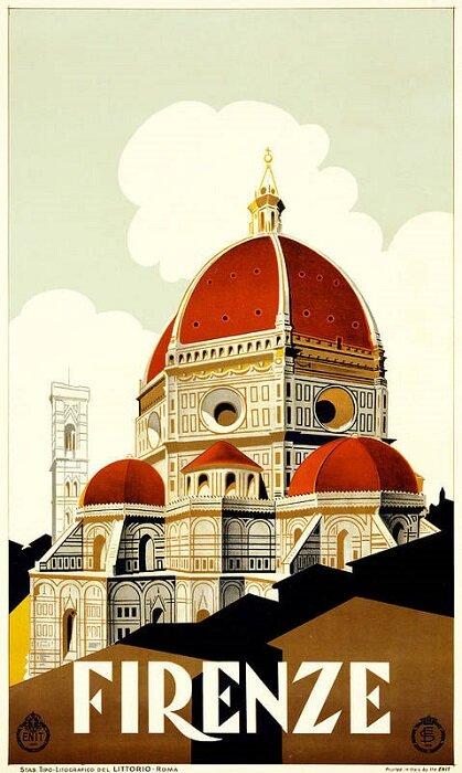 Credit: Fine Art America, 'Florence Travel Poster'.