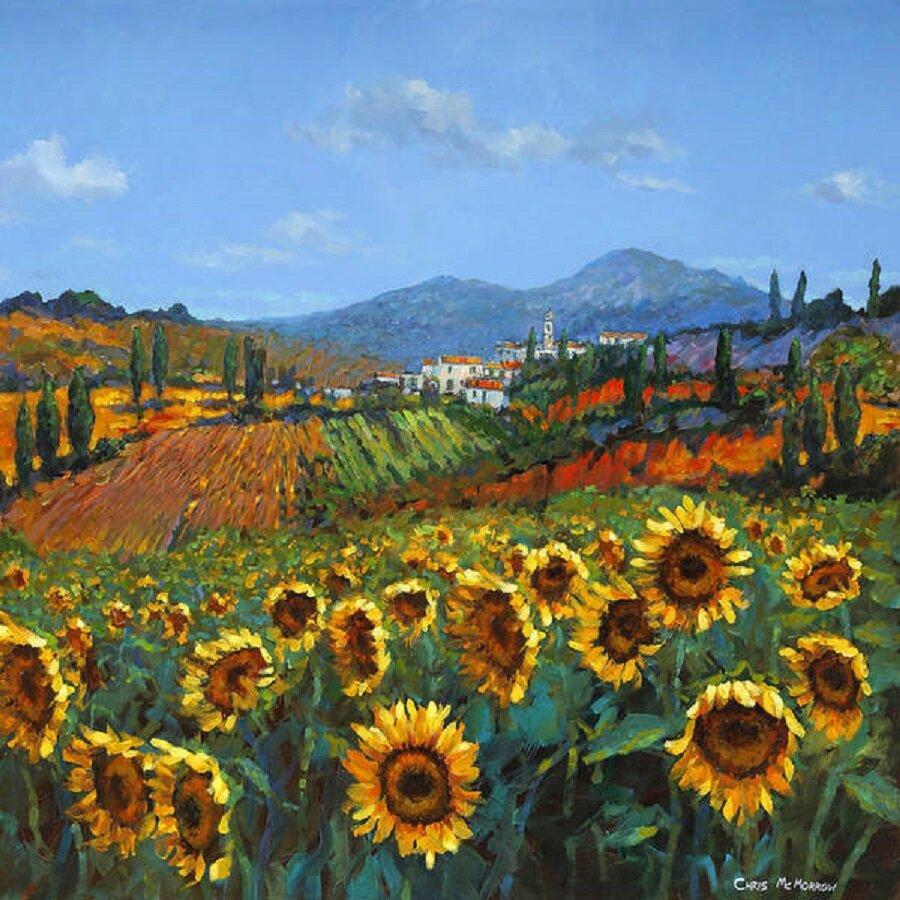 Credit: Fine Art America, 'Tuscan Sunflowers'.