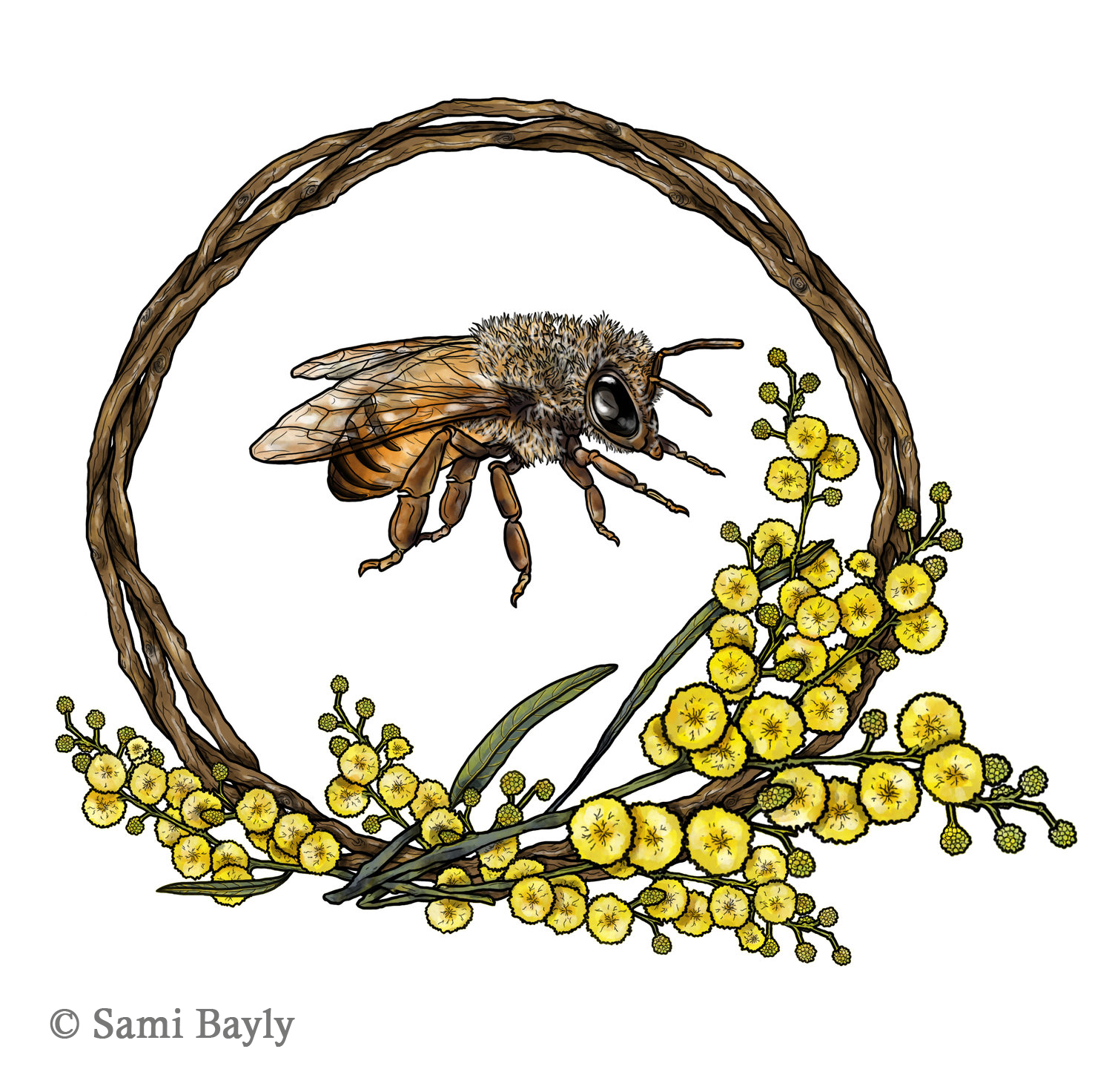 Bee Wreath Commission