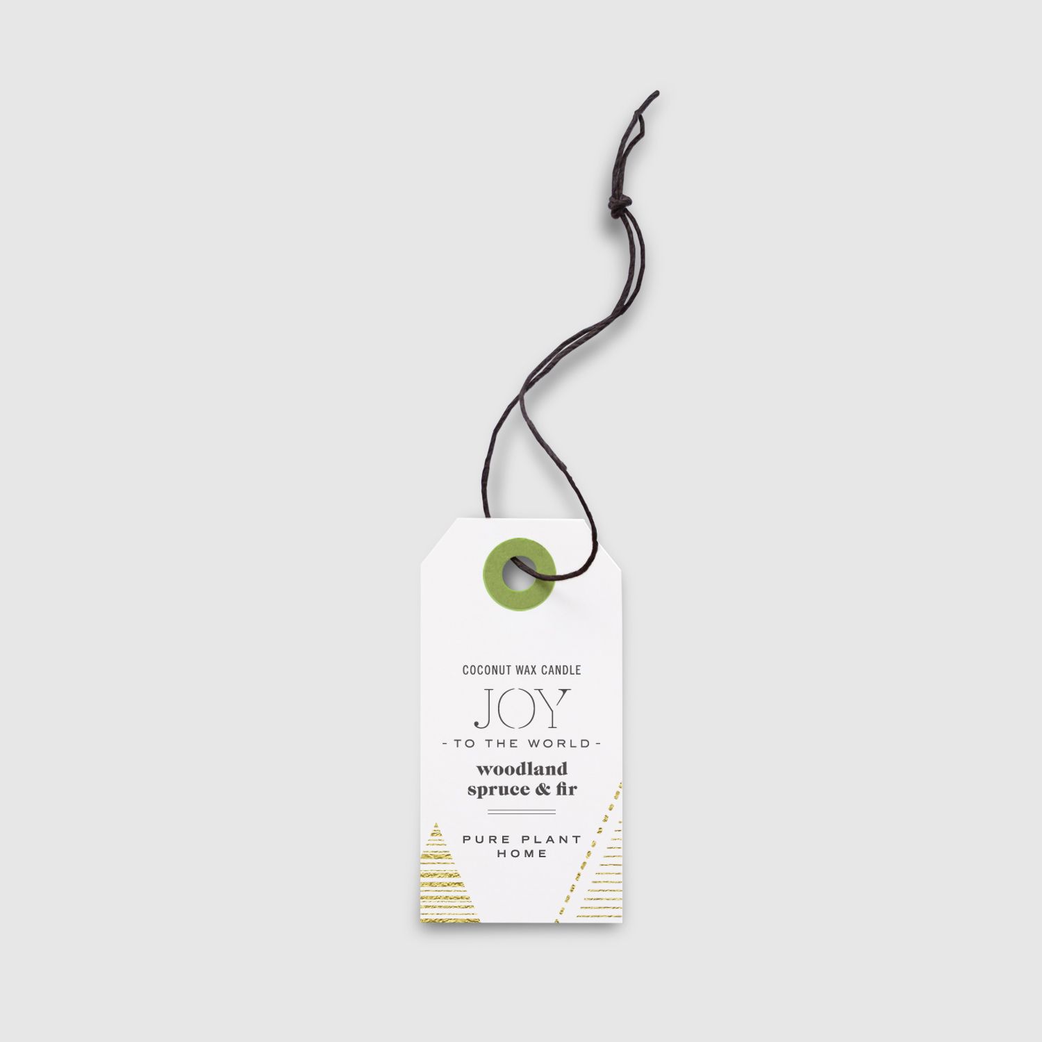 Peggy Wong Studio / hangtag design for Pure Plant Home candle packaging