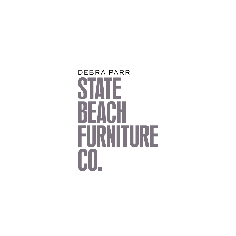 Peggy Wong Studio / logo design for State Beach Furniture Co.