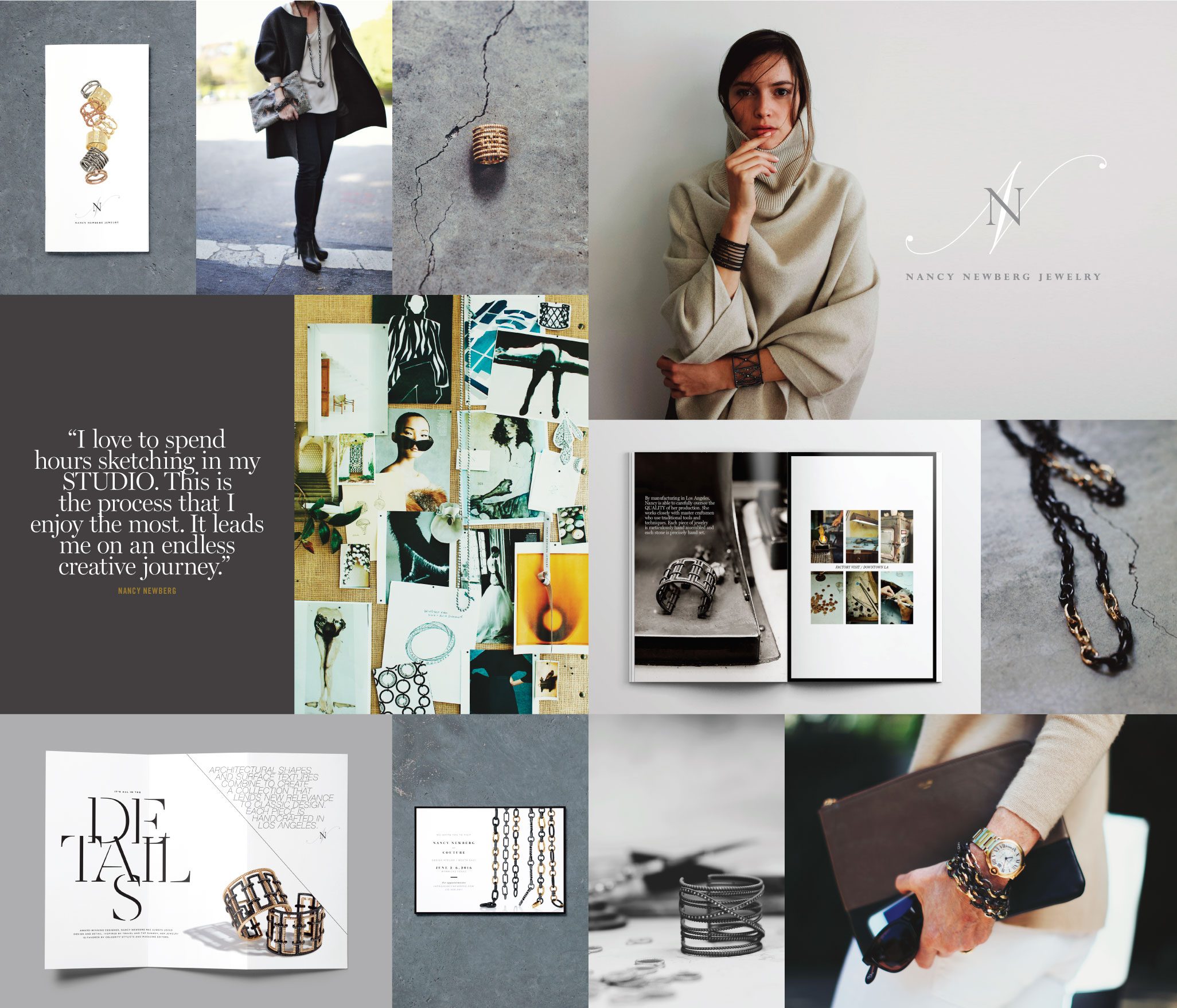 Peggy Wong Studio / branding design and photography for Nancy Newberg Jewelry