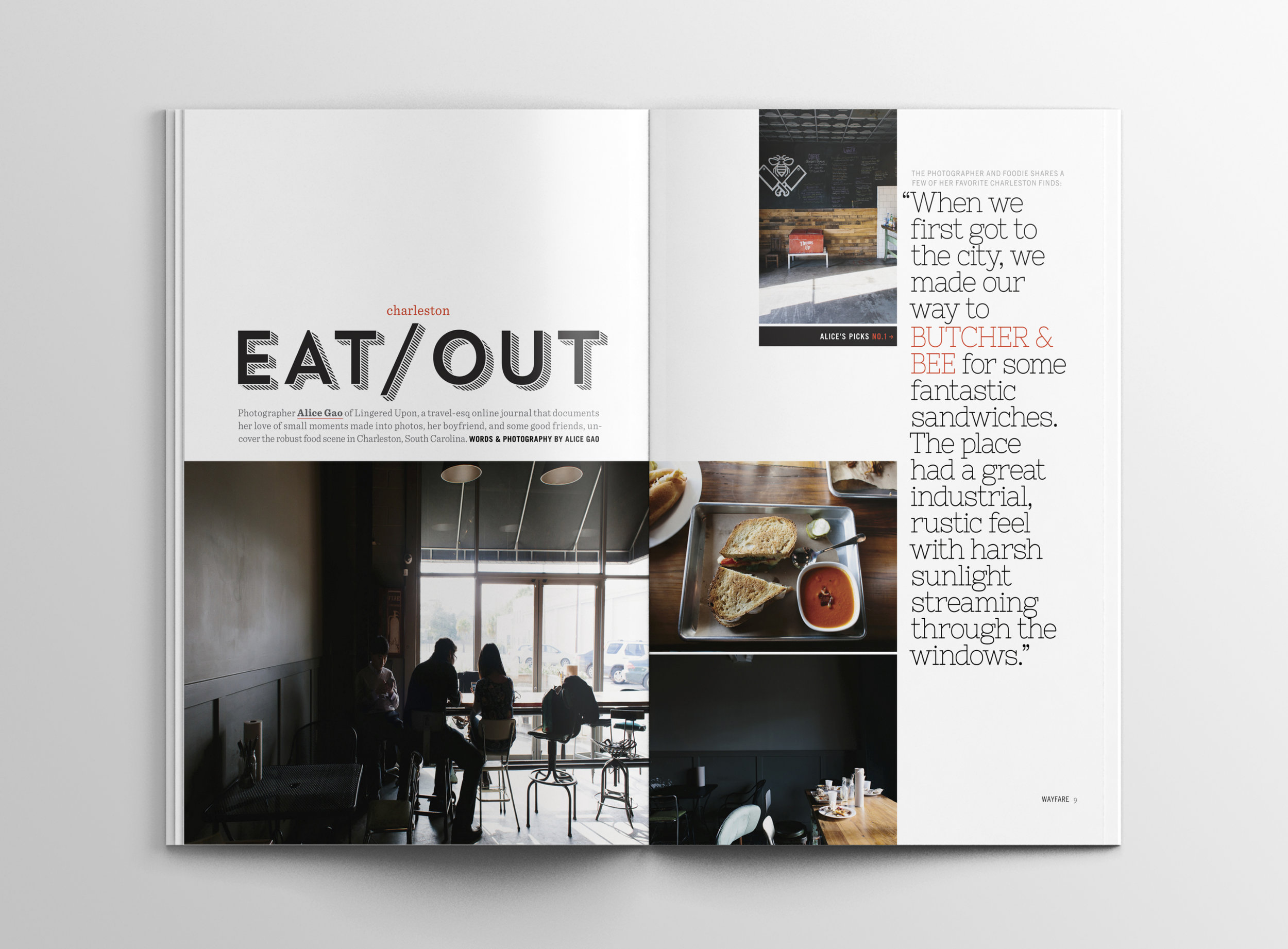 Peggy Wong Studio / editorial design for Wayfare Magazine, photography by Alice Gao