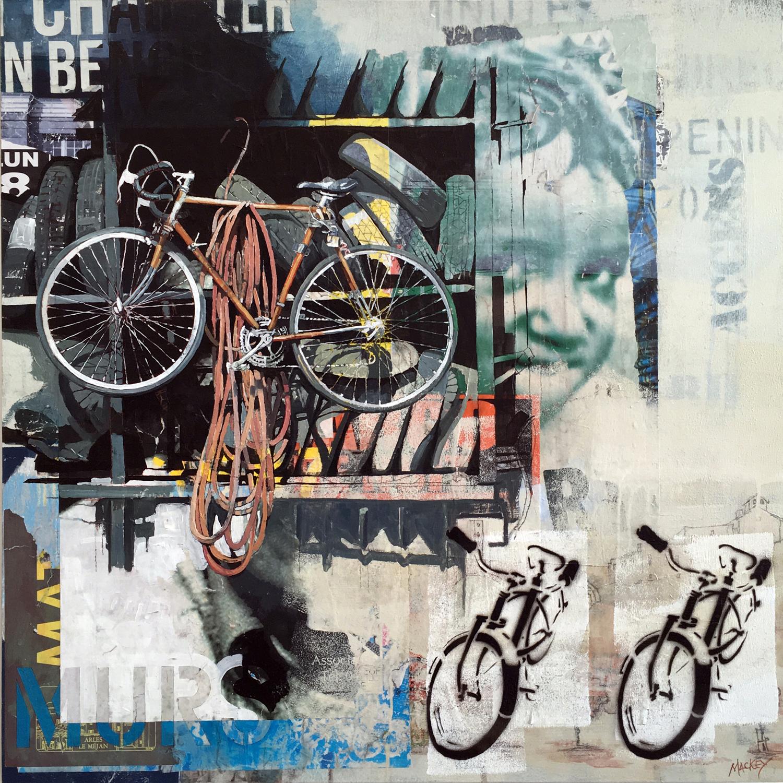 "Urban Wall (Bikes) , 30"" x 30"""