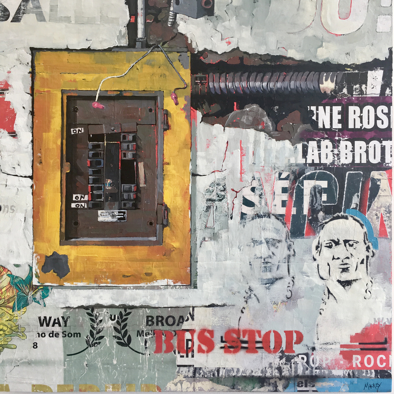 "Urban Wall (Fuse Box) , 24"" x 24"""