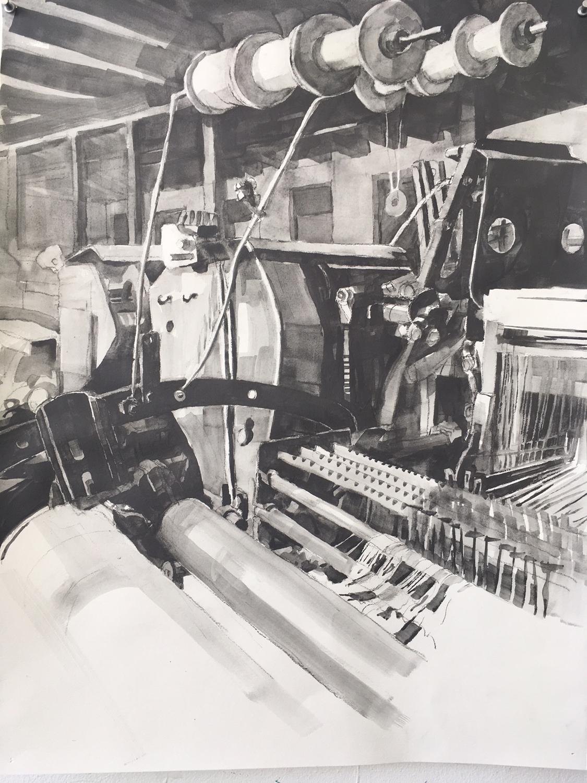 Anderl Fabrik Loom with Bobbins