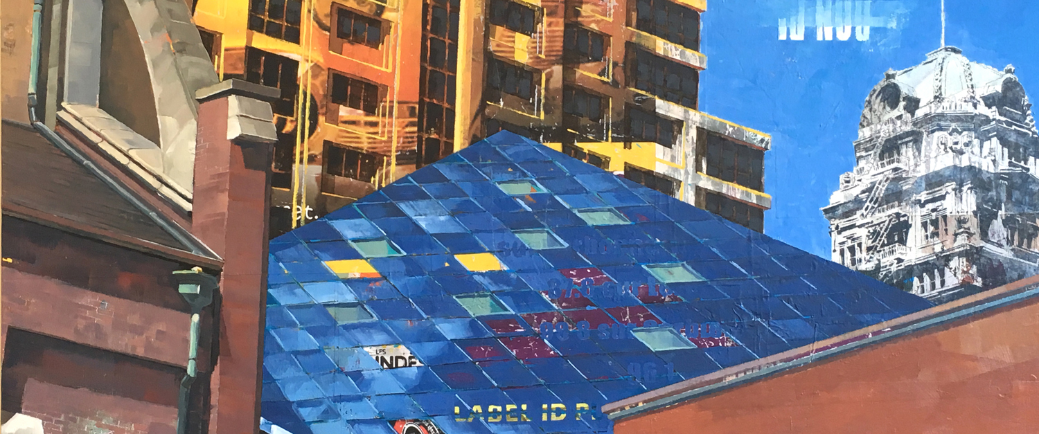 "Blue: A San Francisco Juxtaposition.   30"" x 40"" (detail)."