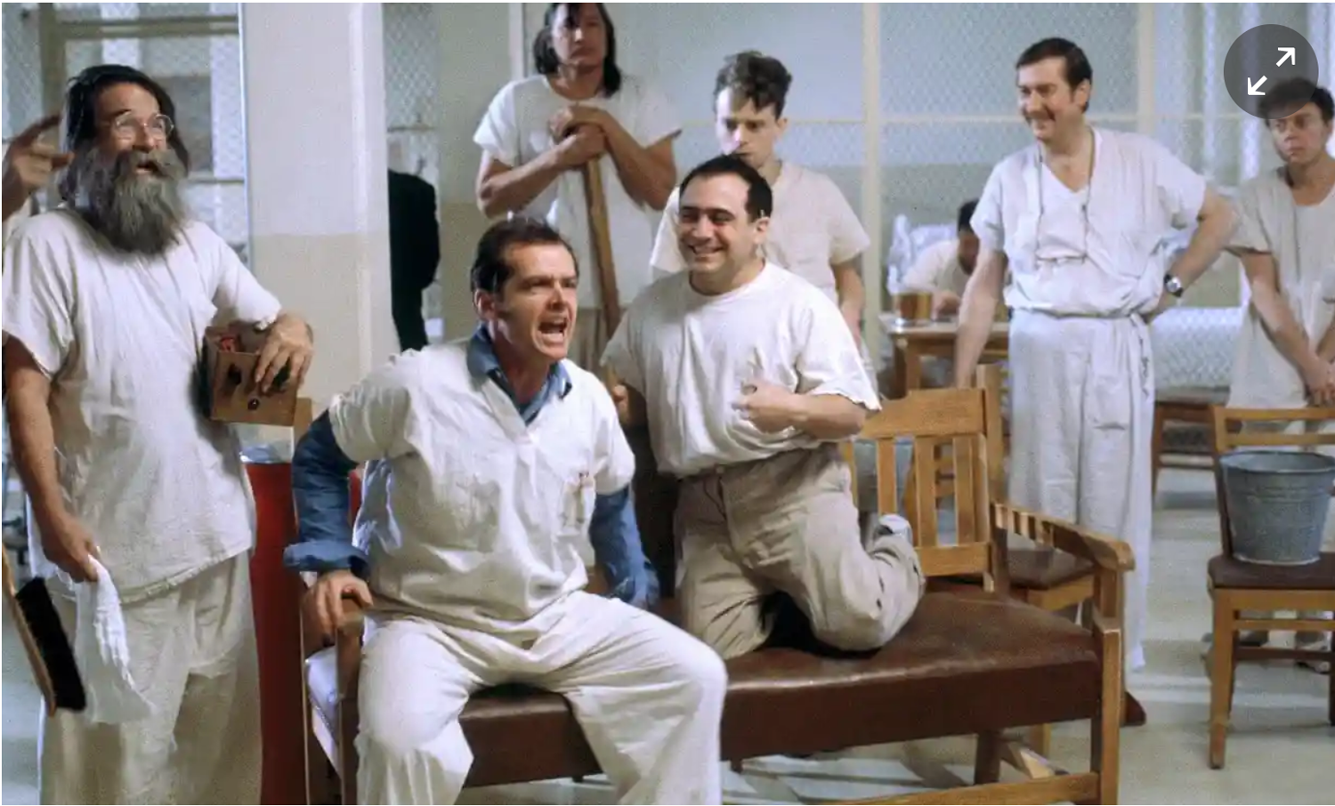 Still from  One Flew Over the Cuckoo's Nest