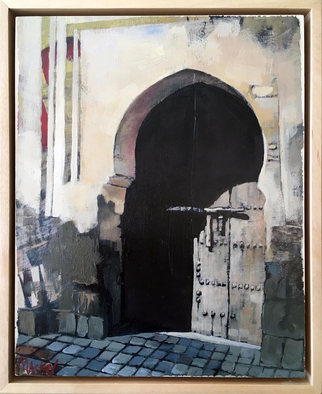 """Moroccan Door.   10"""" x 8"""""""