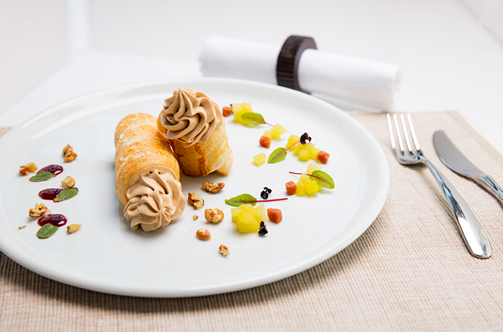Veal Liver Puff Pastry Rolls with Calvados Apples