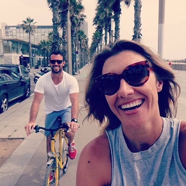 When we were young(er), kid free and riding the streets of #Barcelona. Wouldn't change a thing 👨‍👩‍👦‍👦 #memories @ben_lucas1