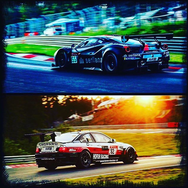 So excited for my brother @alexprinz13 who is starting at the 24h Race Nürburgring today - not just on one, but these two rockets! 😎🤩🤘🏼Fingers crossed! #racing #adrenalinerush 🏁