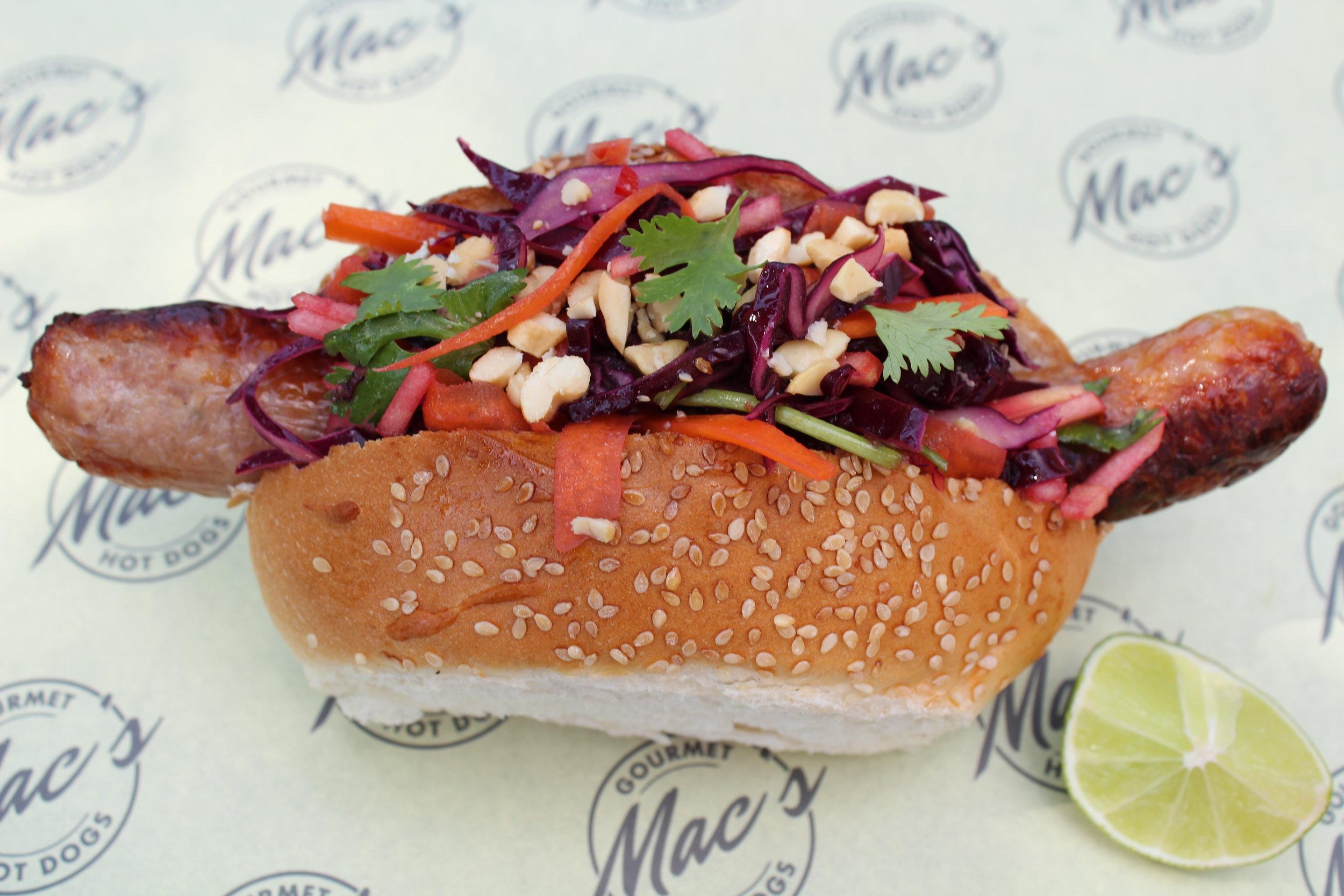 Asian Dog - Hot dog with Asian slaw