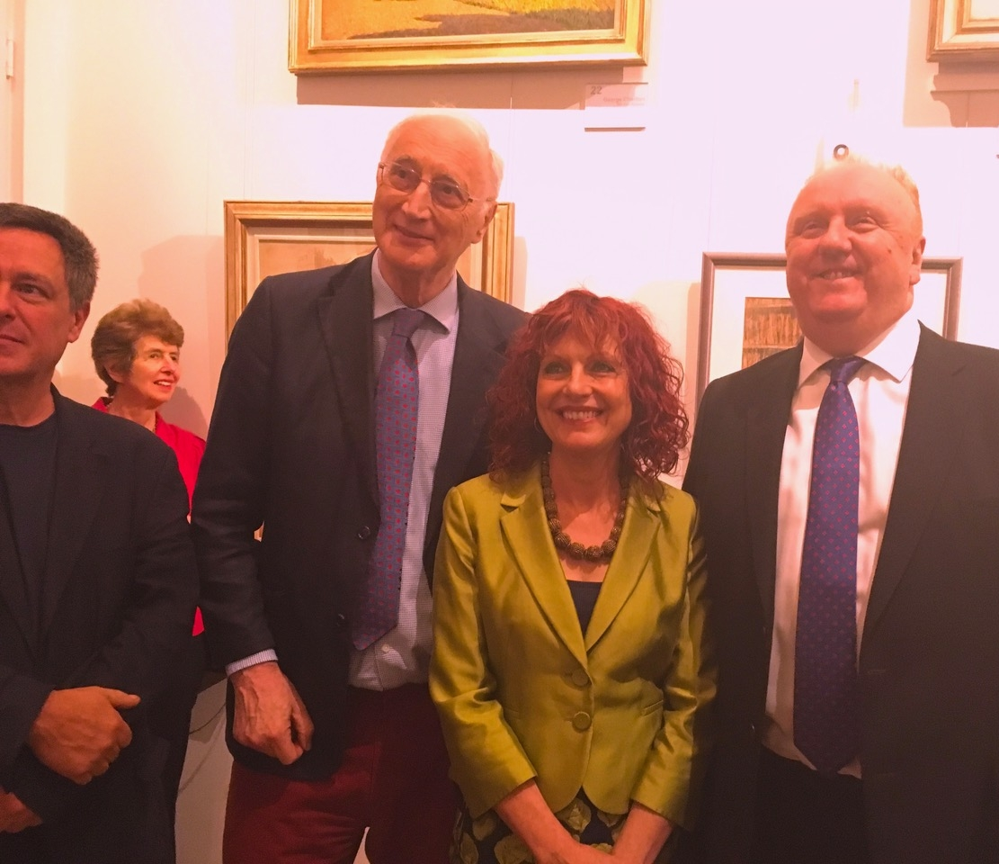 Rosie at the Stanley Spencer Gallery Cookham, receiving her award on 19 May 2017. From l-r Spencer's grandson John, Lady Young,Sir George Young, Rosie Jackson, Hugh Cawthorne, whose family kindly donated the prize.