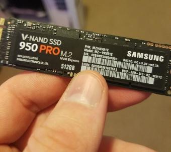 Samsung 950 Pro 512GB M.2 NVME SSD