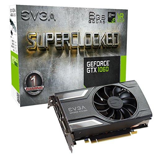 EVGA GeForce GTX 1060 6GB 6GB SC GAMING Video Card