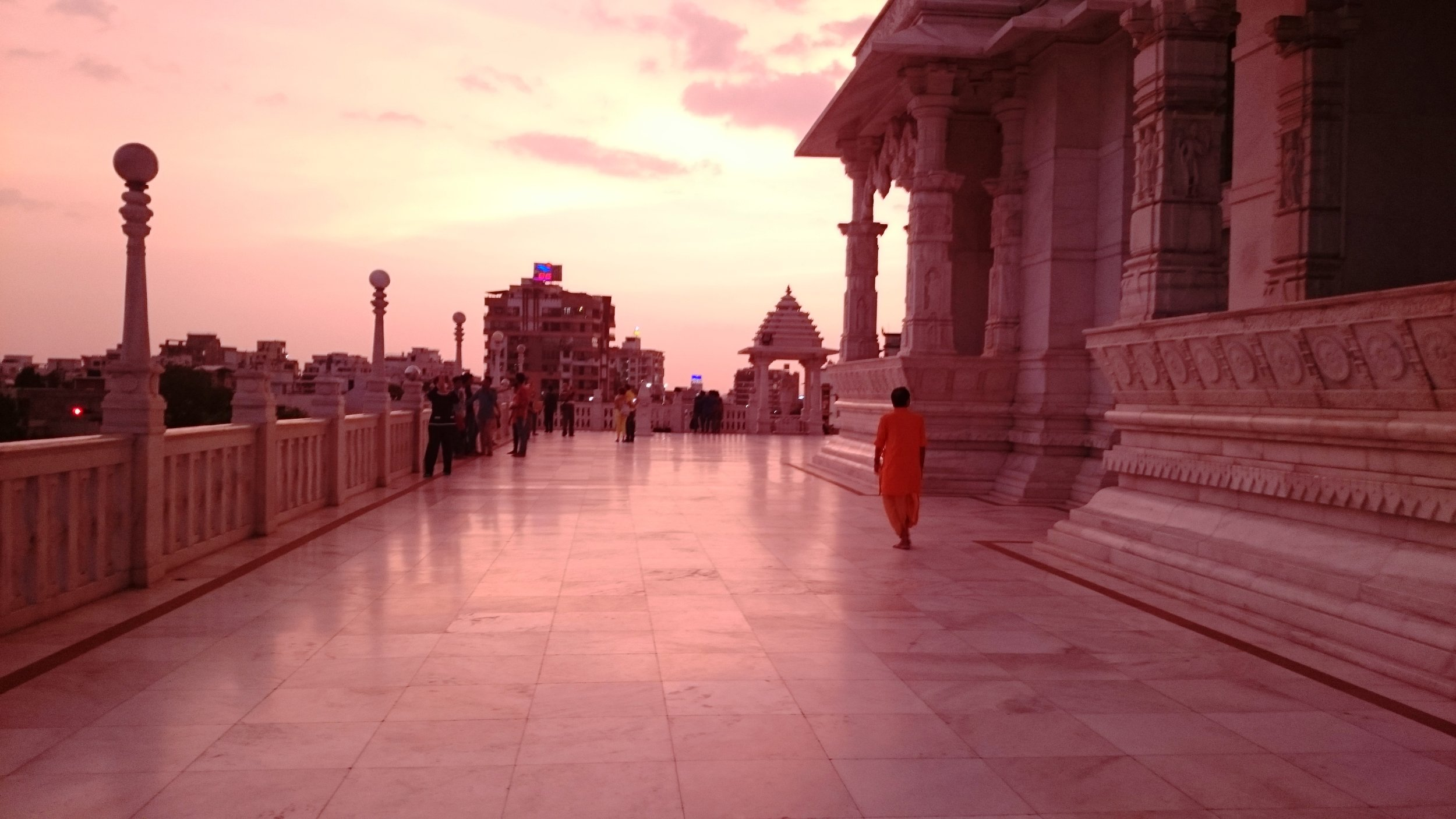 Sunset in Birla Mandir