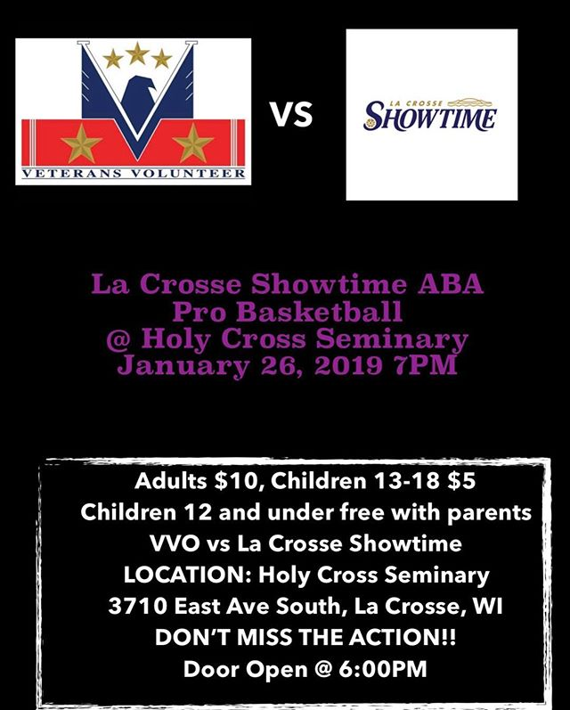 UPDATE!!! Catch Showtime in action this Saturday, 7PM at Holy Cross Seminary, 3710 East Ave S, La Crosse vs VVO. NO SUNDAY GAME