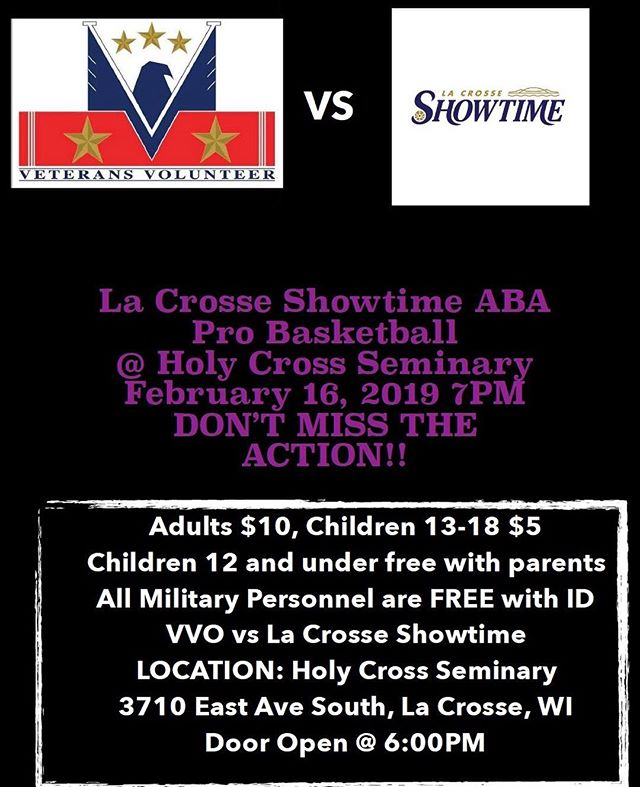 DON'T MISS THE ACTION!! It's round 2 for the VVO vs Showtime. All military and service personnel are free with an ID. DON'T MISS THE ACTION!!