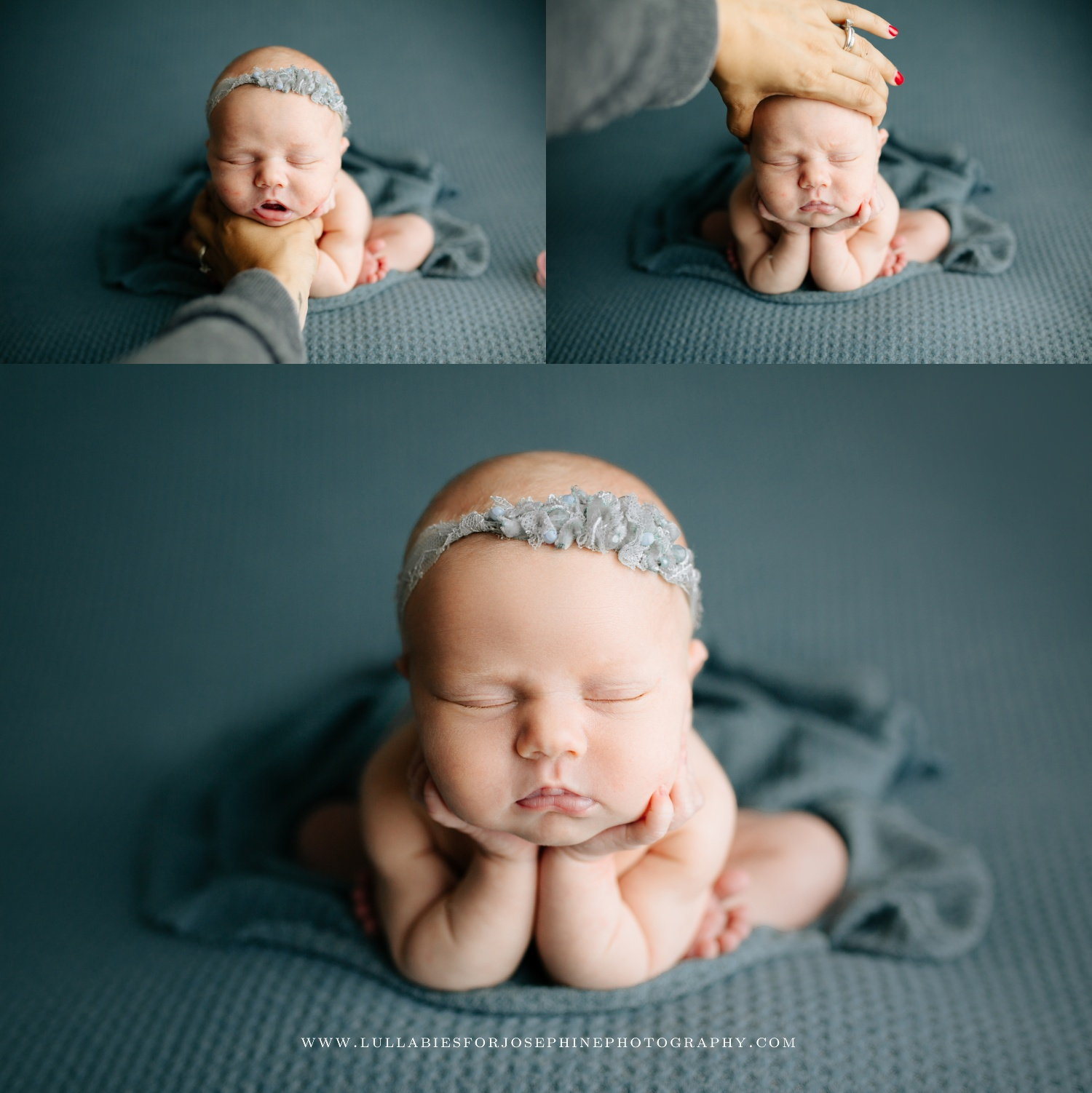 Wayne Newborn Photographer safety training experience best baby photographer composite image
