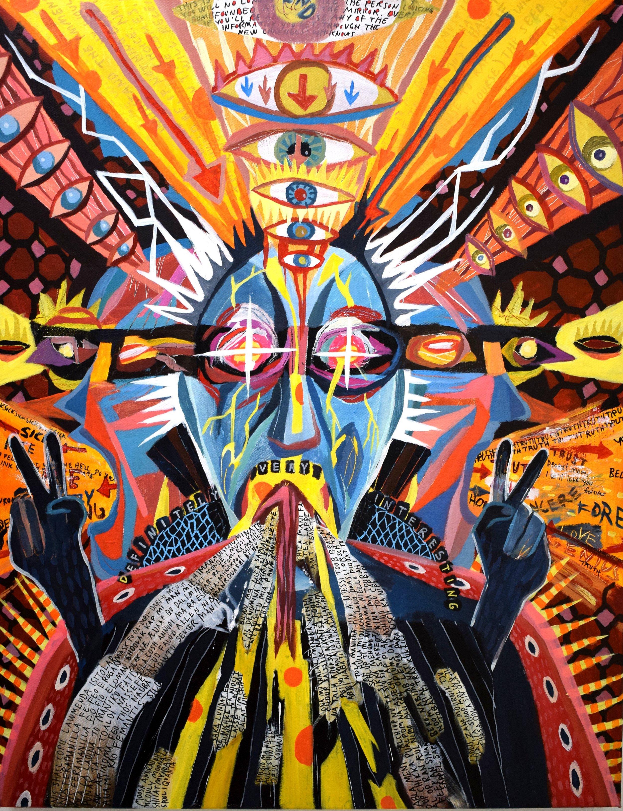 Incoming, Acrylics, 70x90cm, 2016