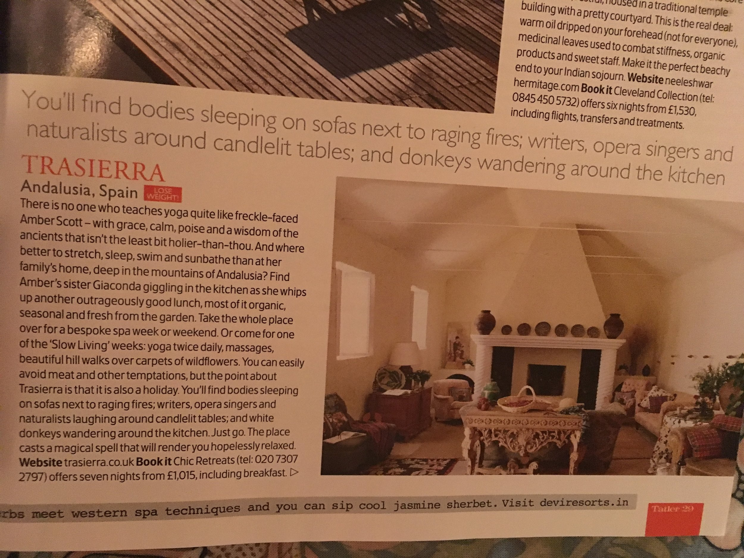 from Tatler 2011 - the best spa guide