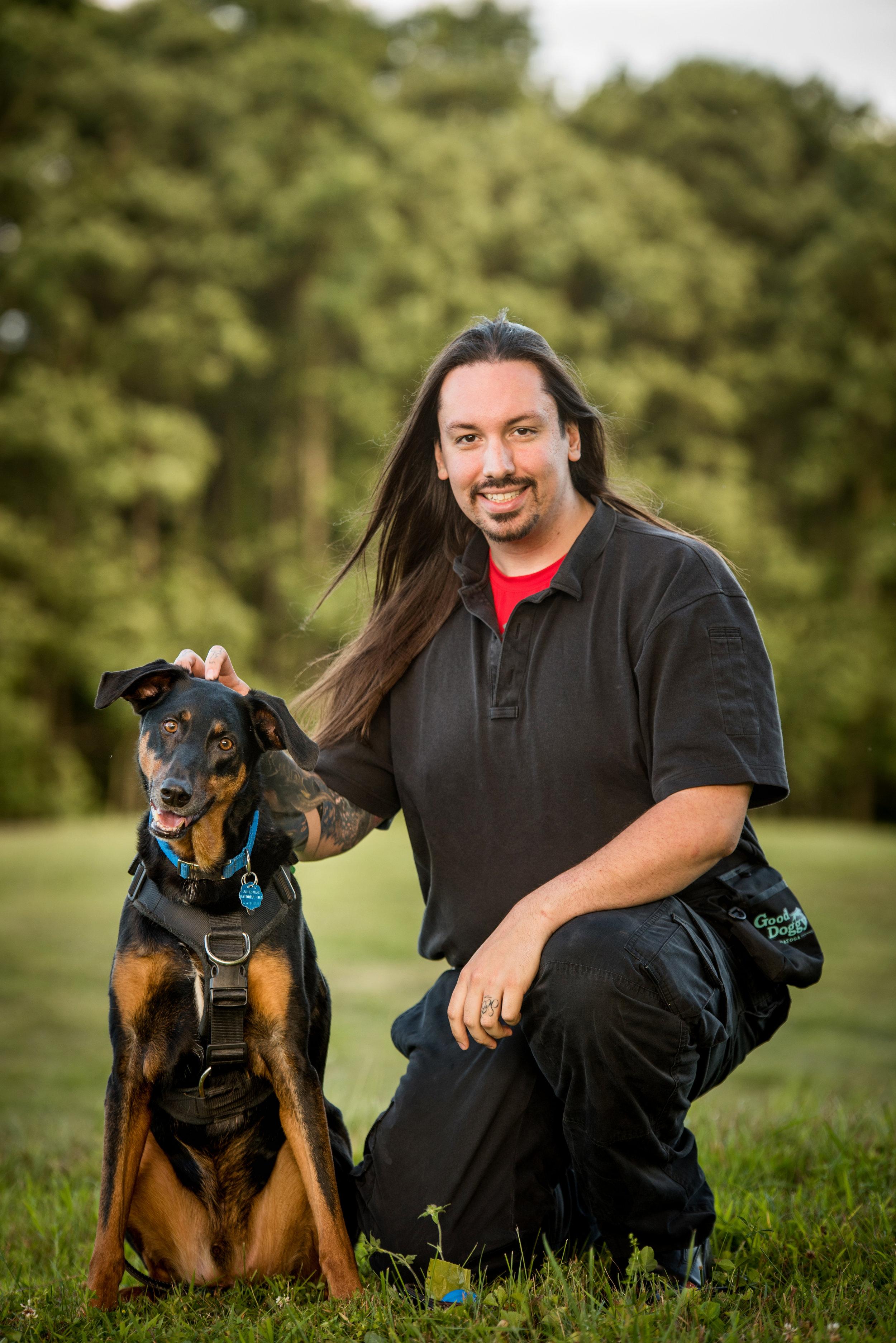 Ben with his dog fenris