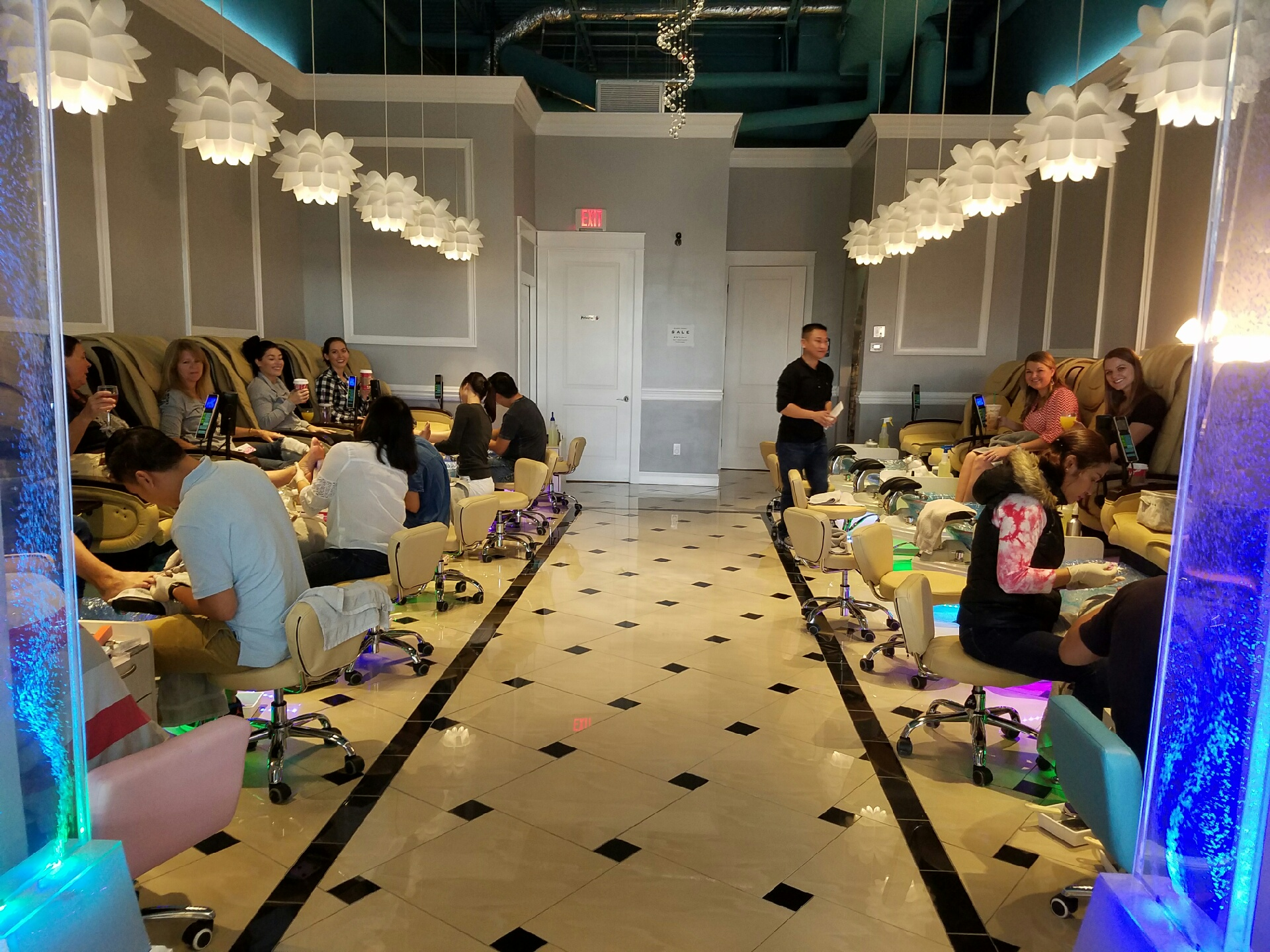 Pedicures for Party of 12? Luxe Nail Bar got it covered!