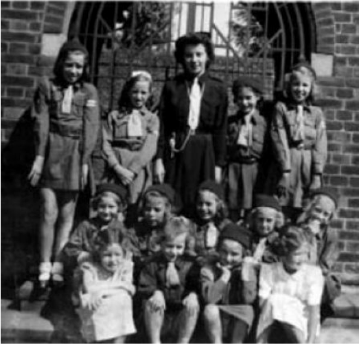 Brownies inside the Court Yard. Date unknown.