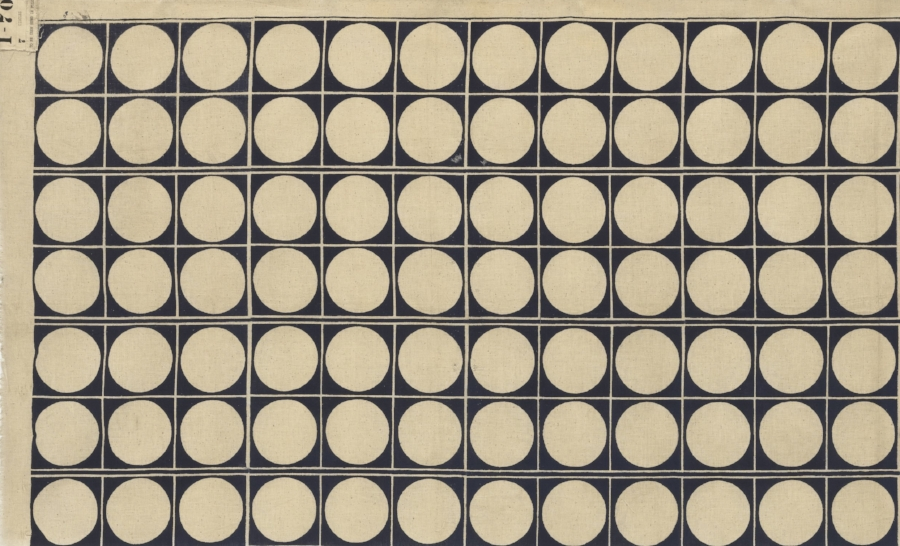 Noémi Raymond,  Circles , c. 1939–40. Manufactured by Cyrus Clark Co., Inc., New York, NY. © The Museum of Modern Art, New York.