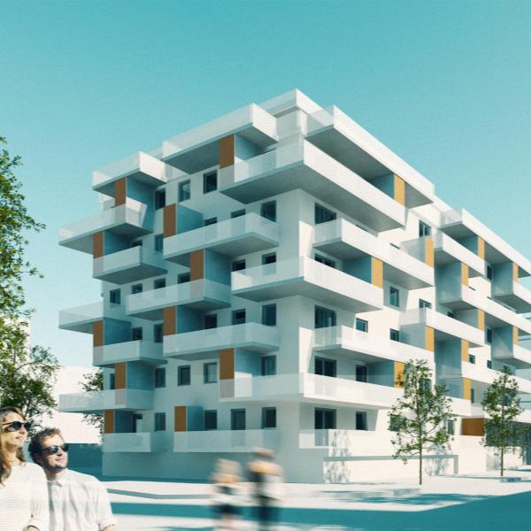 """Nettelbeckplatz,Berliini - Yhteisöasumiskohde Berliinissä. Toteuttajayhteisössä mm. Villagen kumppanit Living in Metropolises LiM ja tafkaoo architects. Voittanut useita palkintoja mm. Berliinin kaupungin innovaatiopalkinnon sekä European Responsible Housing Award palkinnon """"yhteisön luojat"""" kategoriassa."""