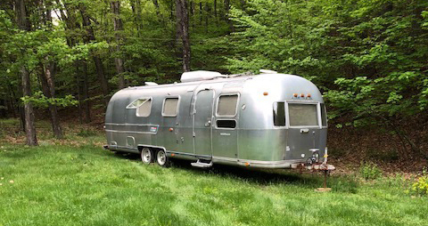 DOLLY: 1974 Airstream Sovereign Land Yacht, 31 feet, original interior still intact and ready for us to gut and renovate