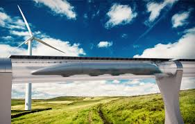 A drawing of hyperloop. Photo Credit: National Geographic News