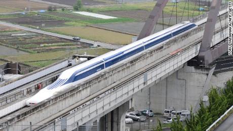 Japan's Maglev train. Photo Credit: CNN