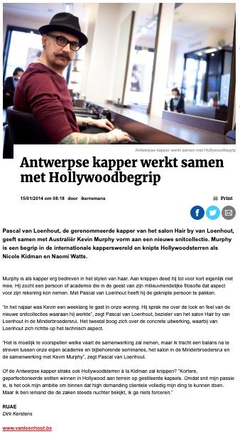 Gazet van Antwerpen - January 2014