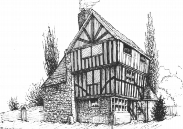 This was drawn with a dip pen and ink on smooth paper. The scratchy quality gives it a rustic feel. The perspective is a little out but these old buildings are always a bit wonky. I have used a little artistic license with this drawing to make it look less 1970's than it does in reality.