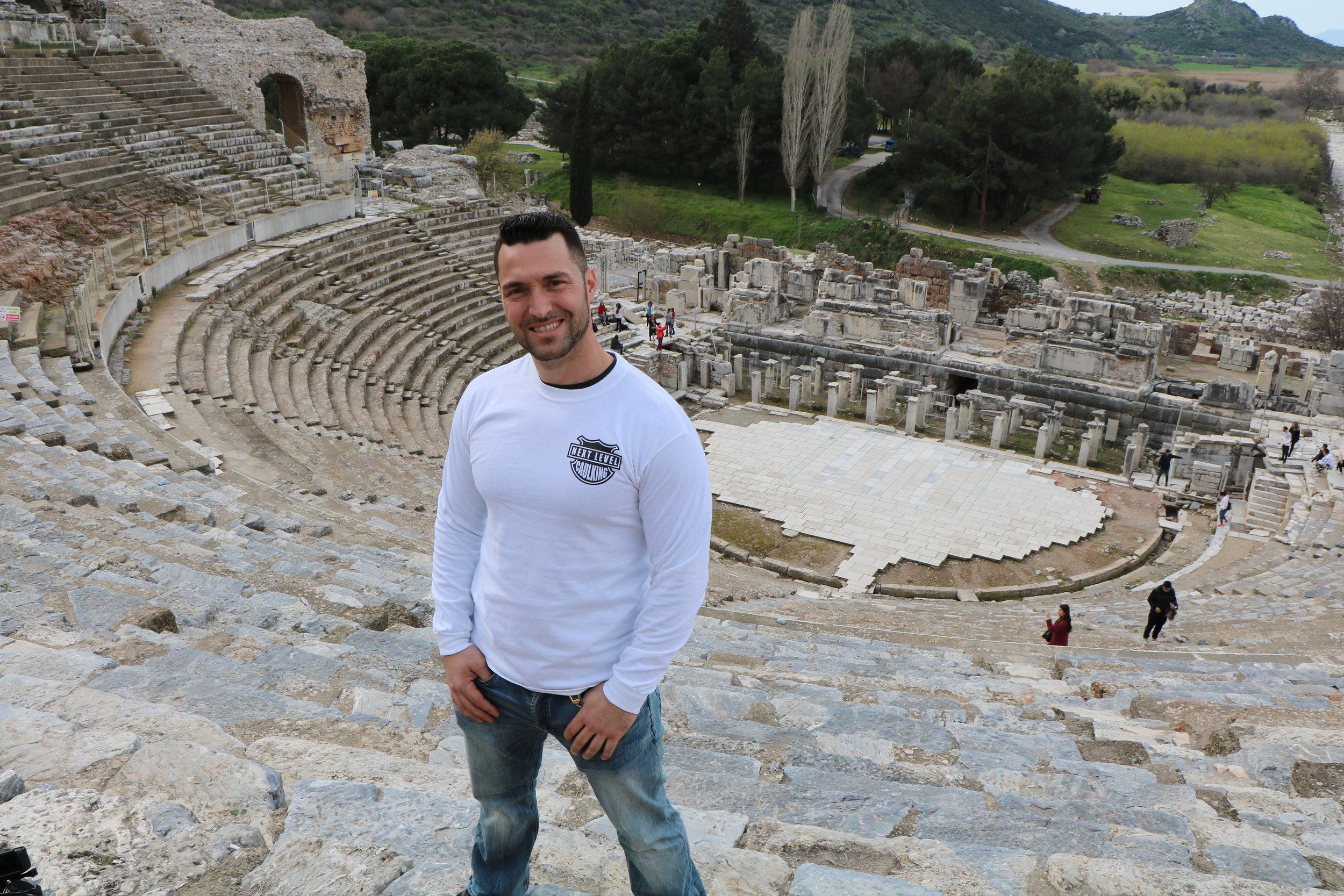 Leo Aktas, in Ephesus- Turkey